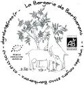 La Pépite - tomme pressée de chèvre affinée au safran comtois et aux bleuets des Vosges - 1/8 de tomme (AB)