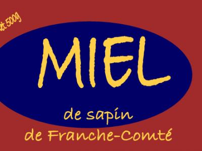 MIEL DE SAPIN certifié AB, 500G.