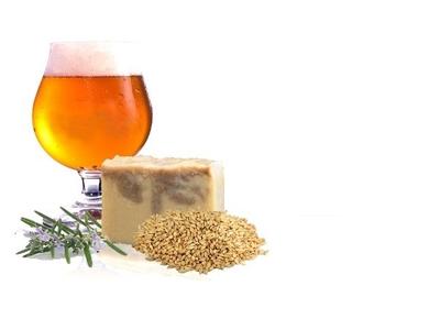 b.Savon à la bière et au rhassoul