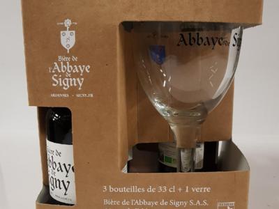 Bière de l'Abbaye de Signy - 1 box : 1 verre + 3 bouteilles de 33cl