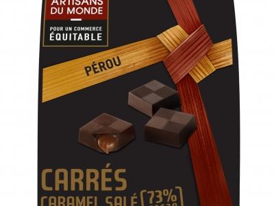 5.10 chocolat noir fourrés caramel salé, 100g