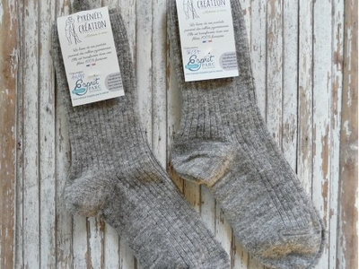 Chaussettes mi-longues gris naturel 38-39