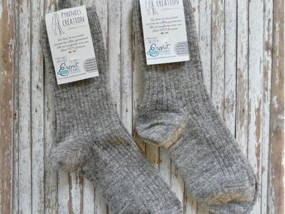 Chaussettes mi-longues gris naturel 44-45