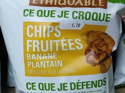 Chips Fruités banane plantain  sachet de 85g