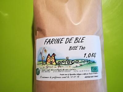 Farine de blé bise 1kg T80