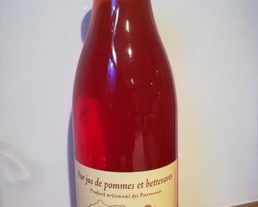 Jus de pommes betteraves