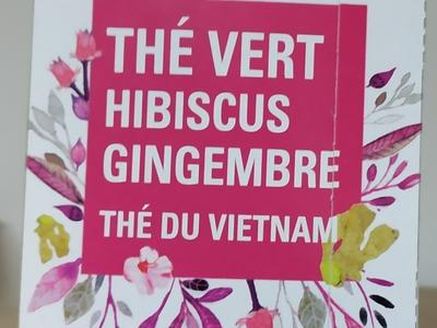 Thé vert Hibiscus Gengembre