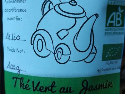 Thés d'Antoine : Thés Verts  THE AU JASMIN  les 50g