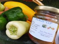 Pickles de Courgettes/ Poivrons  pour l'apéritif ou avec des légumes et féculents 250g