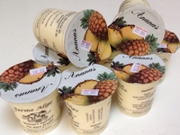 Yaourts Fermiers à l'Ananas