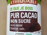 Pur cacao non sucré