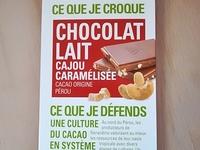 Tablette de chocolat lait cajou caramélisée 100G