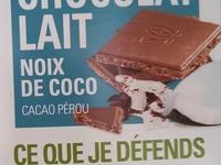 Tablette de chocolat lait NOIX DE COCO 100g