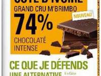 Tablette de chocolat Noir  sobre 74%