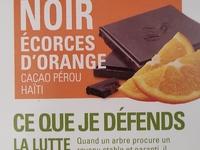 Tablette de chocolat Noir  écorce d'Orange 100G