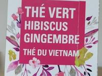 Thé vert Hibiscus Gengembre Boîte de 20 sachets