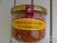 terrine de lapin au miel et raisins